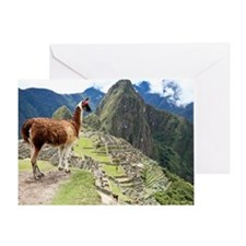 Ancient Inca lost city Machu Picchu, Greeting Card