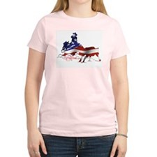 Stars & Stripes Cutting horse Women's T-Shirt