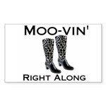 Moovin' Rectangle Sticker