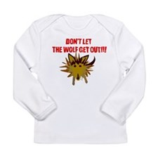 Scrappy Wolf: Don't Let it Out! Long Sleeve T-Shir