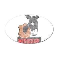 Vintage Missouri Jackass 35x21 Oval Wall Decal