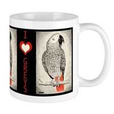African Grey in Pencil Mug