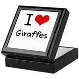 I Love Giraffes Keepsake Box