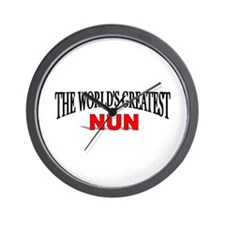"""The World's Greatest Nun"" Wall Clock"