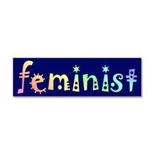 Cute Feminist Car Magnet 10 x 3