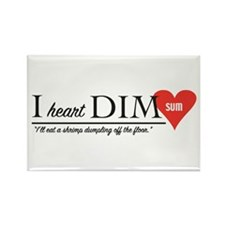 I Heart Dim Sum Rectangle Magnet