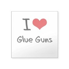 I Love Glue Guns Sticker