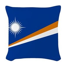Marshall Islands Flag Woven Throw Pillow