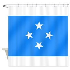 Flag of Micronesia Shower Curtain