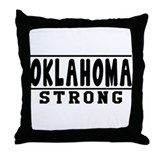 Oklahoma Strong Designs Throw Pillow