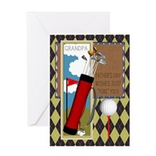 Grandpa Golf Club Father's Day Greeting Card With