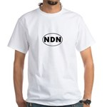 NDN Oval Design White T-Shirt