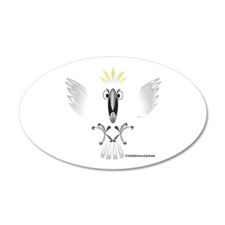 Screaming Cockatoo Wall Decal