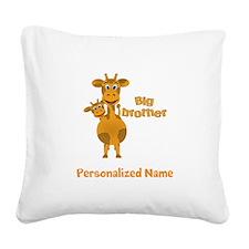 Big Brother Giraffe Square Canvas Pillow