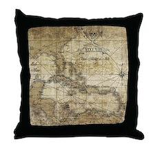 World of Pirates Throw Pillow