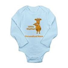Little Brother Giraffe Long Sleeve Infant Bodysuit