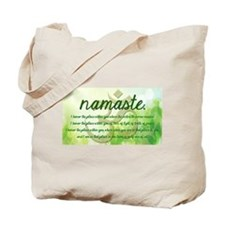 Namaste Greeting Tote Bag