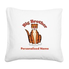 Tiger Big Brother Square Canvas Pillow