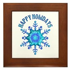 Holiday Snowflake Framed Tile