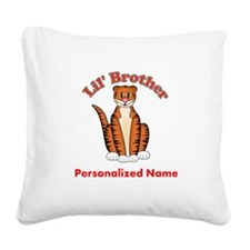 Tiger Little Brother Square Canvas Pillow