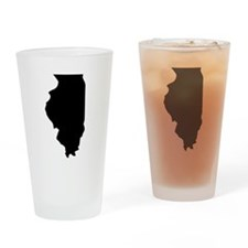 State of Illinois Drinking Glass