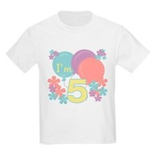 5th Pastel Birthday Kids T-Shirt