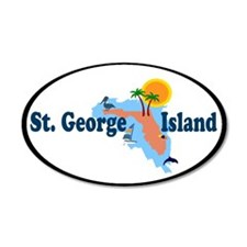 St. George Island - Map Design. Wall Decal