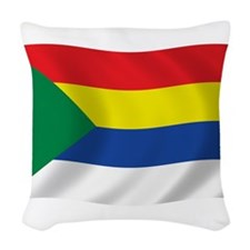 Druze Flag Woven Throw Pillow