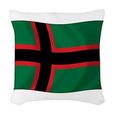 Karelians Flag Woven Throw Pillow