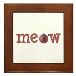 Meow Christmas Cat Framed Tile