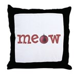 Meow Christmas Cat Throw Pillow