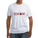Meow Christmas Cat Fitted T-Shirt