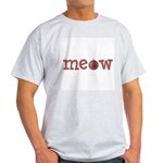 Meow Christmas Cat Ash Grey T-Shirt