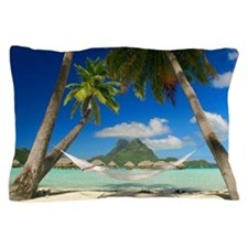 Tropical Paradise Beach Pillow Case