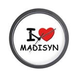 I love Madisyn Wall Clock