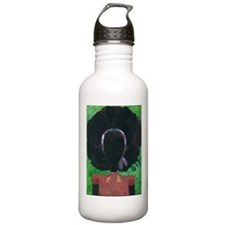 Girl with the Big Afro Water Bottle