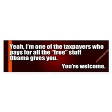 Youre Welcome Bumper Bumper Sticker