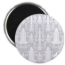 "Rocket Science Damask 2.25"" Magnet (100 pack)"