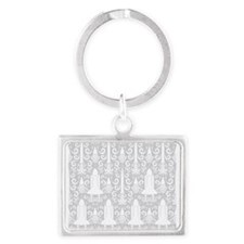 Rocket Science Damask Keychains