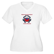 Crab Logo Plus Size T-Shirt
