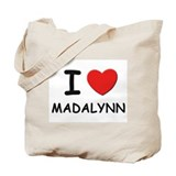 I love Madalynn Tote Bag