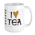 Tea Color I heart (love) Tea Large Mug