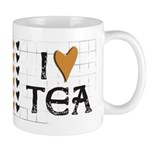 Tea Color I heart (love) Tea Mug