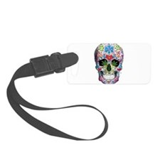 Decorated Skull n Weed Leaf Luggage Tag