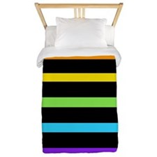 'Neon Rainbow' Twin Duvet