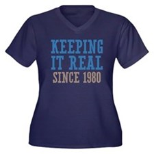 Keeping It Real Since 1980 Women's Plus Size V-Nec