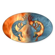 Kokopelli Fire & Ice (NEW) Rectangle Decal