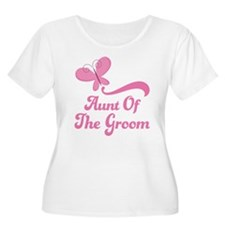 Aunt of the Groom Butterfly T-Shirt