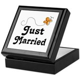 Just Married Butterfly Keepsake Box