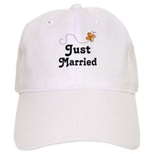 Just Married Butterfly Baseball Cap
